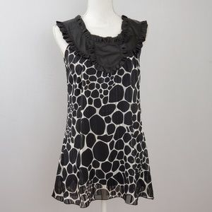 ⚡ Ginger G Black and White Dotted Tunic